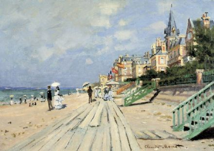 Monet, Claude: The Beach at Trouville. Fine Art Print/Poster. Sizes: A4/A3/A2/A1 (00745)